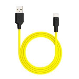 Кабель HOCO X21 Silicone Cable Type-C (L=0,25M), Black&Yellow