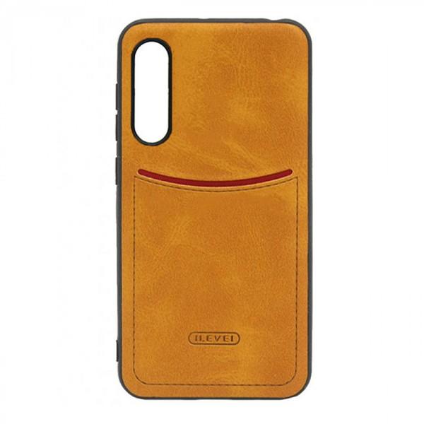 Чехол-накладка ILEVEL /визитница/ для Xiaomi Mi9 Lite (Светло-коричневый) 1