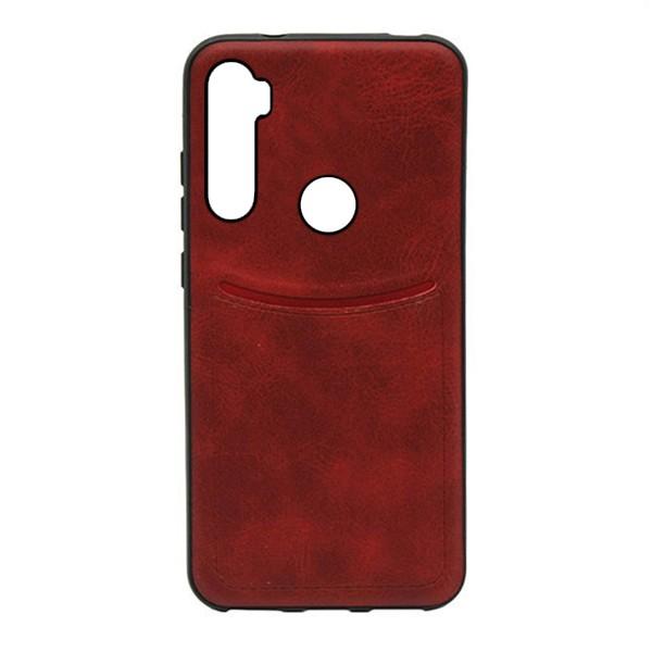 Чехол-накладка ILEVEL /визитница/ для Xiaomi Redmi Note 8 (Красный) 1