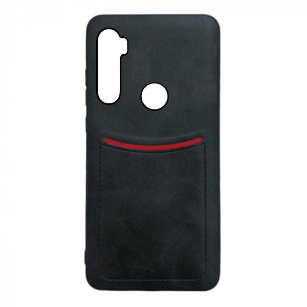 Чехол-накладка ILEVEL /визитница/ для Xiaomi Redmi Note 8 (Черный)