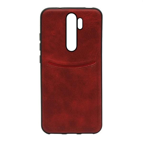 Чехол-накладка ILEVEL /визитница/ для Xiaomi Redmi Note 8 Pro (Красный) 1