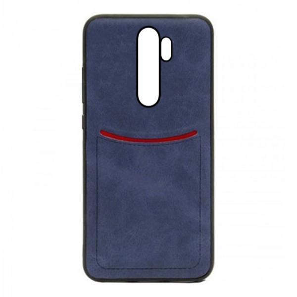 Чехол-накладка ILEVEL /визитница/ для Xiaomi Redmi Note 8 Pro (Темно-синий) 1