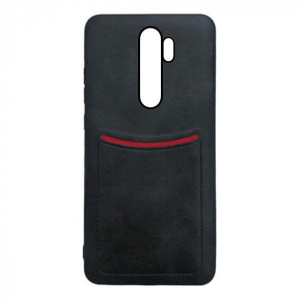 Чехол-накладка ILEVEL /визитница/ для Xiaomi Redmi Note 8 Pro (Черный)
