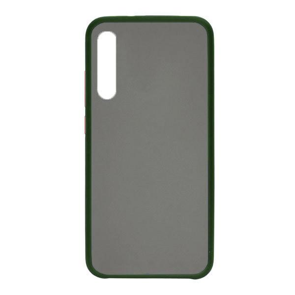 Чехол силиконовый затемненный с пластиковой спиной для Xiaomi Mi9 Lite (dark-green)