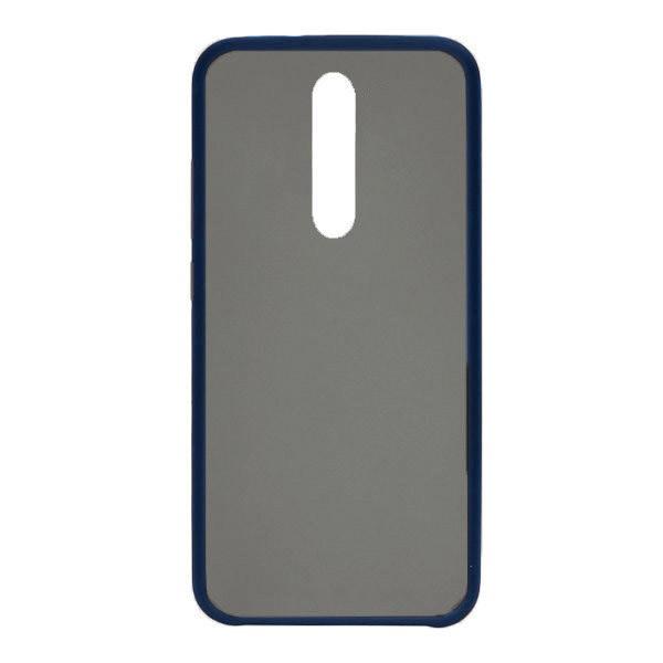 Чехол силиконовый затемненный с пластиковой спиной для Xiaomi Mi9T (dark-blue)