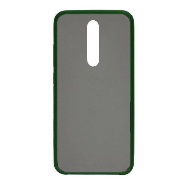 Чехол силиконовый затемненный с пластиковой спиной для Xiaomi Mi9T (dark-green) 1