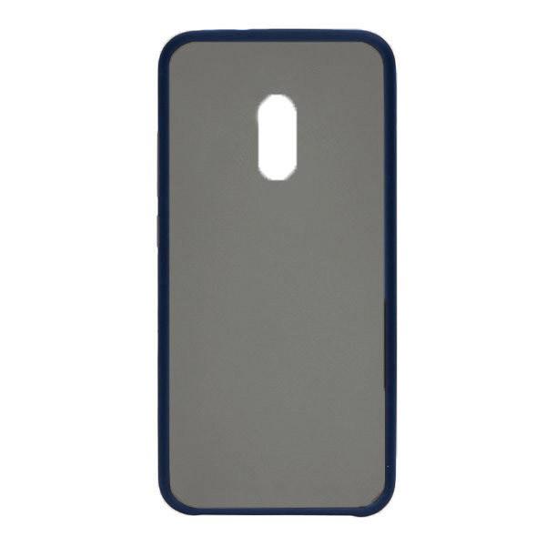 Чехол силиконовый затемненный с пластиковой спиной для Xiaomi Redmi 8 (dark-blue)