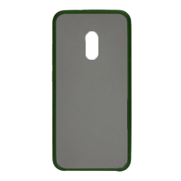 Чехол силиконовый затемненный с пластиковой спиной для Xiaomi Redmi 8 (dark-green) 1