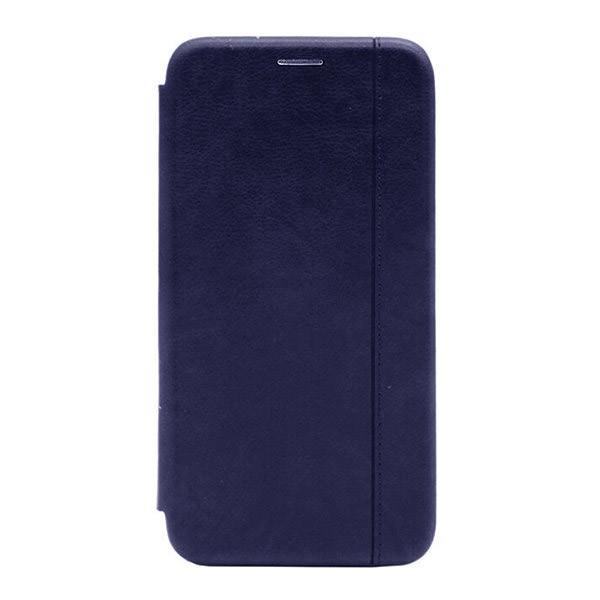 Чехол-книжка с загнутыми краями строчка Xiaomi Mi 9SE (Dark-Blue)