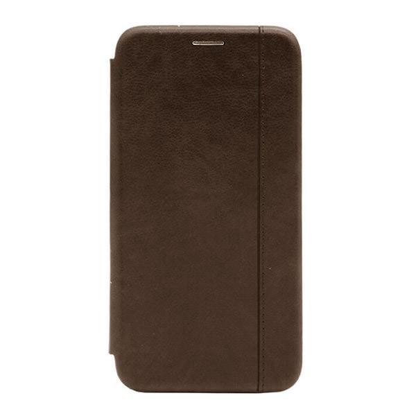 Чехол-книжка с загнутыми краями строчка Xiaomi Mi 9SE (Brown) 1