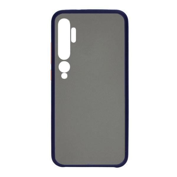 Чехол силиконовый затемненный с пластиковой спиной для Xiaomi Mi Note 10 Pro (Dark-blue) 1
