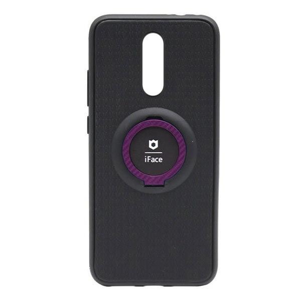 Чехол силиконовый iFace с подставкой и магнитом для Xiaomi Redmi 8 (black-pink)