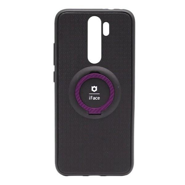 Чехол силиконовый iFace с подставкой и магнитом для Xiaomi Redmi Note 8 Pro (black-pink)
