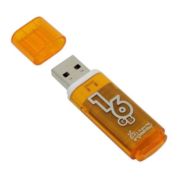 Флеш-накопитель Smart Buy 16GB Glossy (Orange)