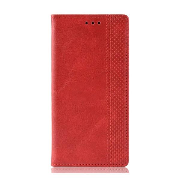 Чехол-книжка с магнитом, кошелёк,силикон для Xiaomi Mi Note 10 (Красный)