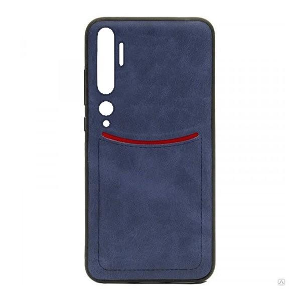 Чехол-накладка ILEVEL /визитница/ для Xiaomi Mi Note 10 (Темно-синий) 1