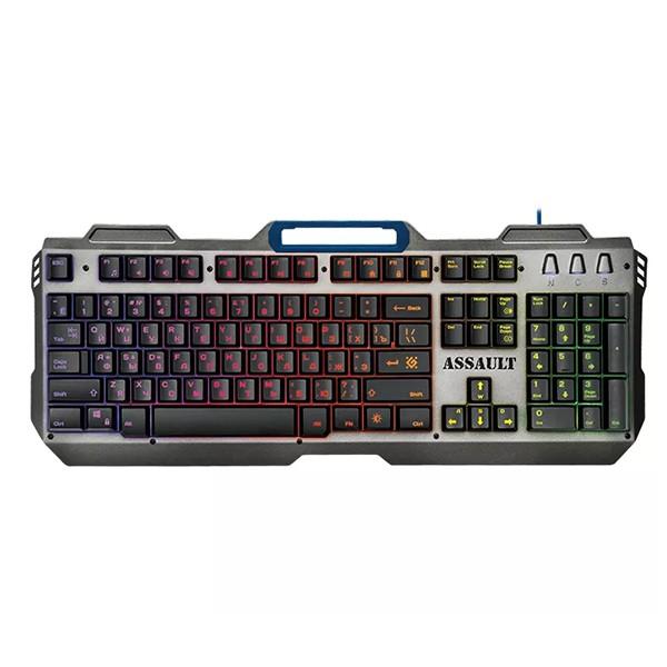 Клавиатура игровая DEFENDER Assault GK-350L, USB (black)