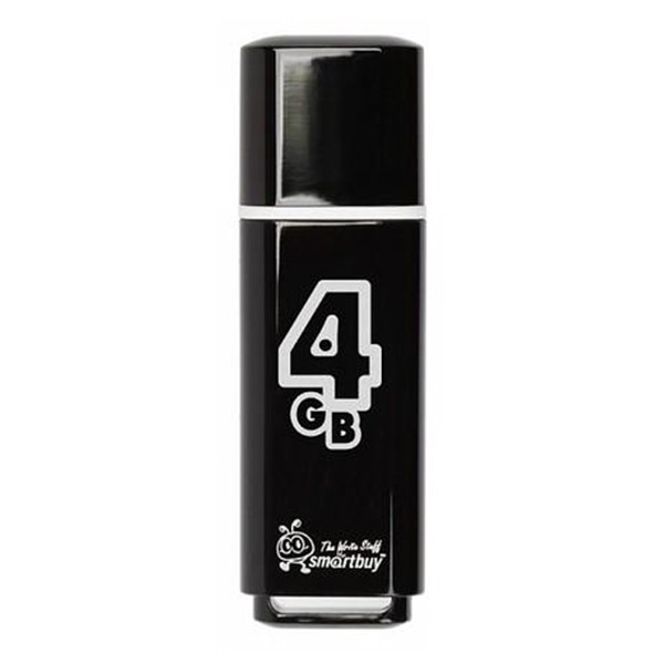 Флеш-накопитель Smart Buy 4GB Glossy (Black)
