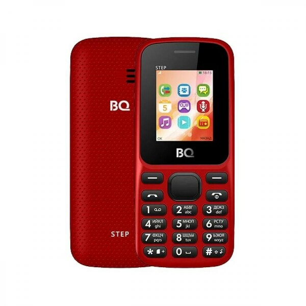 Мобильный телефон BQ BQM-1848 Step Red+Black 1