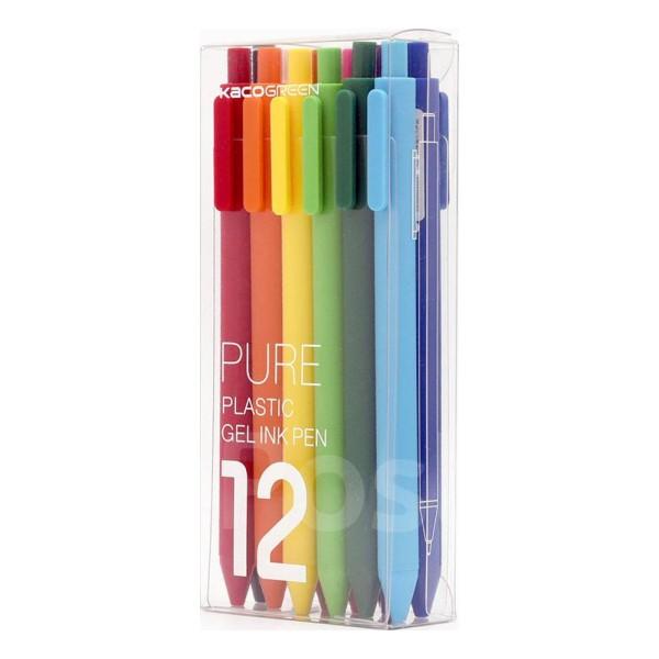 Набор гелевых ручек Xiaomi KACO Pure Plastic Gelic Pen (12 шт)