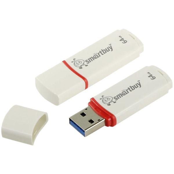 Флеш-накопитель Smart Buy 64GB Crown (White)