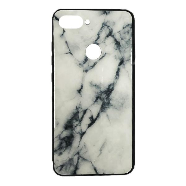 Чехол бампер Glass Case для Xiaomi Mi8 Lite (White)