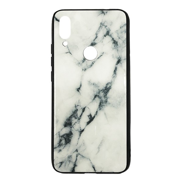 Чехол бампер Glass Case для Xiaomi Redmi 7 (White)
