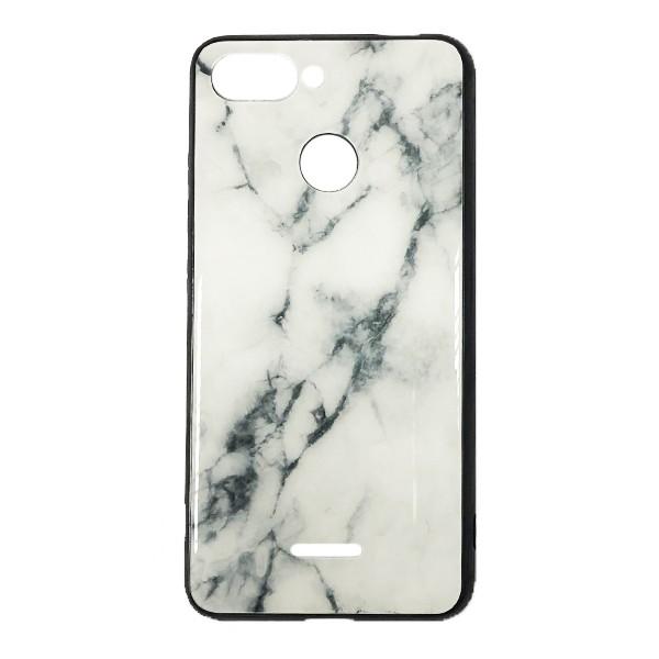 Чехол бампер Glass Case для Xiaomi Redmi 6 (White) 1
