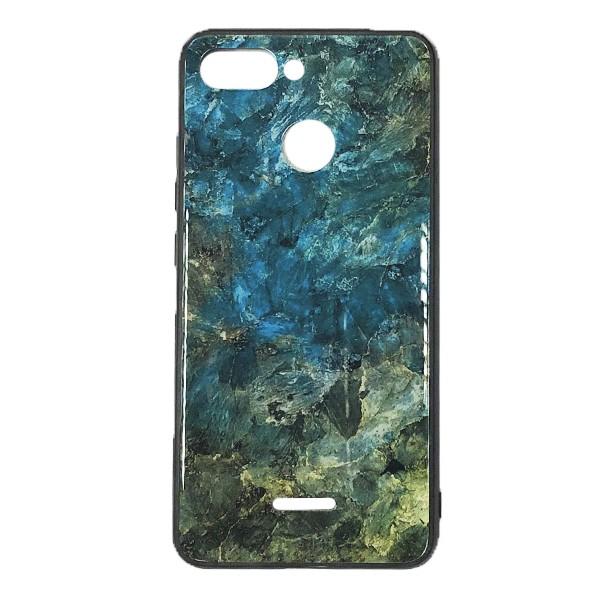 Чехол бампер Glass Case для Xiaomi Redmi 6 (Green)