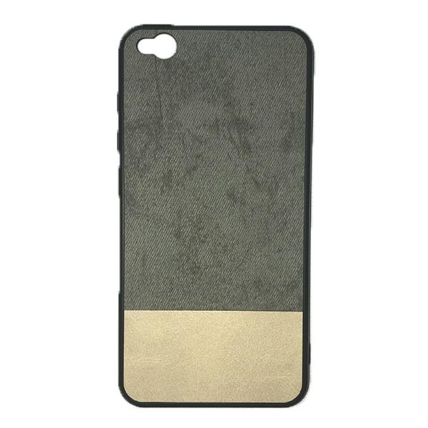 Чехол-накладка Cowboy /силикон, ткань, иск.кожа/ для Xiaomi Redmi Go (Серый)