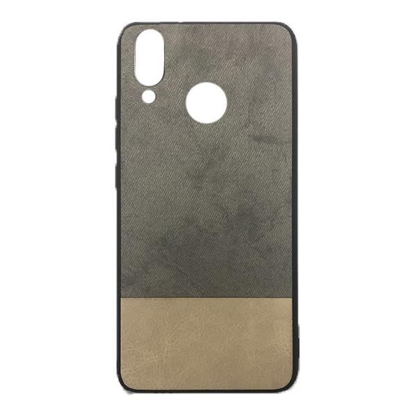 Чехол-накладка Cowboy /силикон, ткань, иск.кожа/ для Xiaomi Redmi 7 (Серый)