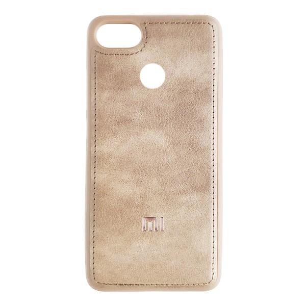 Чехол накладка Life Leather Case для Xiaomi Mi8 Lite (Light Brown) 1