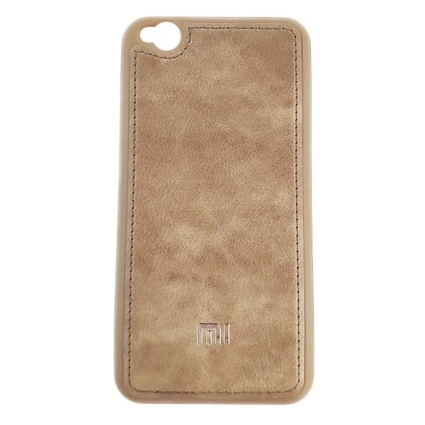 Чехол накладка Life Leather Case для Xiaomi Redmi Go (Light Brown) 1
