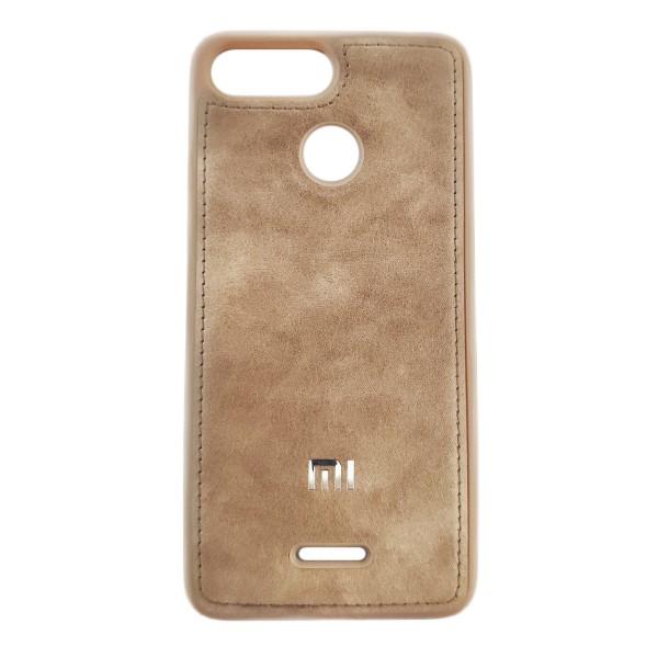 Чехол накладка Life Leather Case для Xiaomi Redmi 6 (Light Brown)