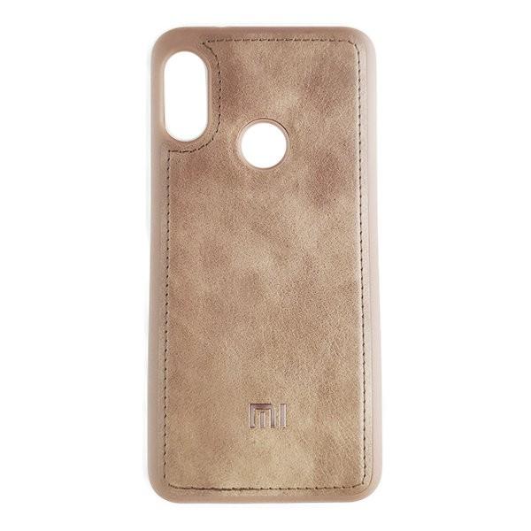 Чехол накладка Life Leather Case для Xiaomi Redmi 7 (Light Brown)