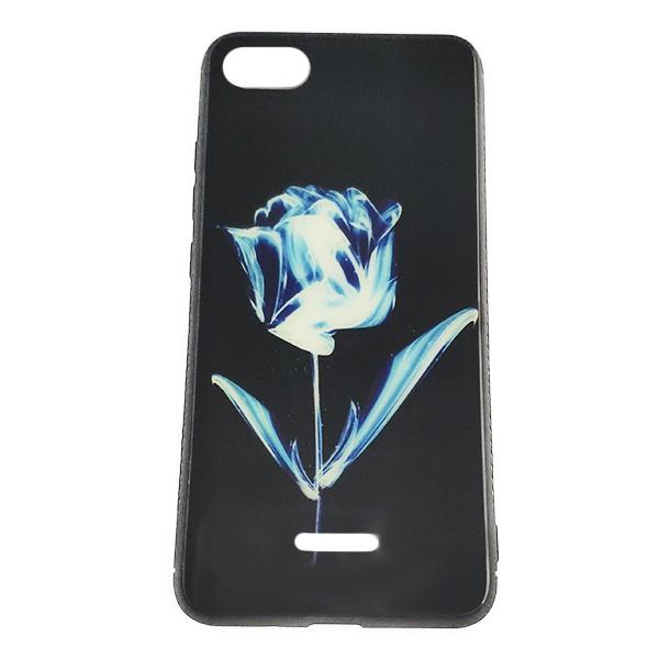 Чехол бампер 4U Protector Glass Case для Xiaomi Redmi 6 (Flower)