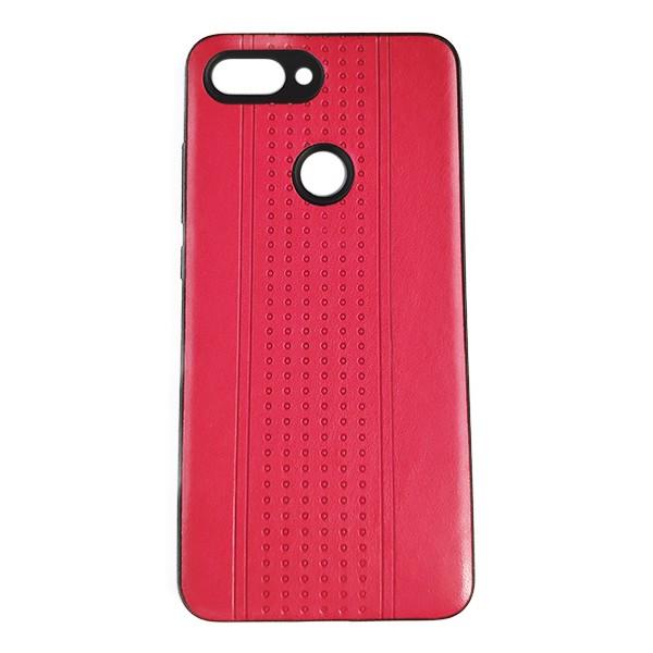 Чехол накладка Pattern Leather для Xiaomi Mi8 Lite (Red) 1