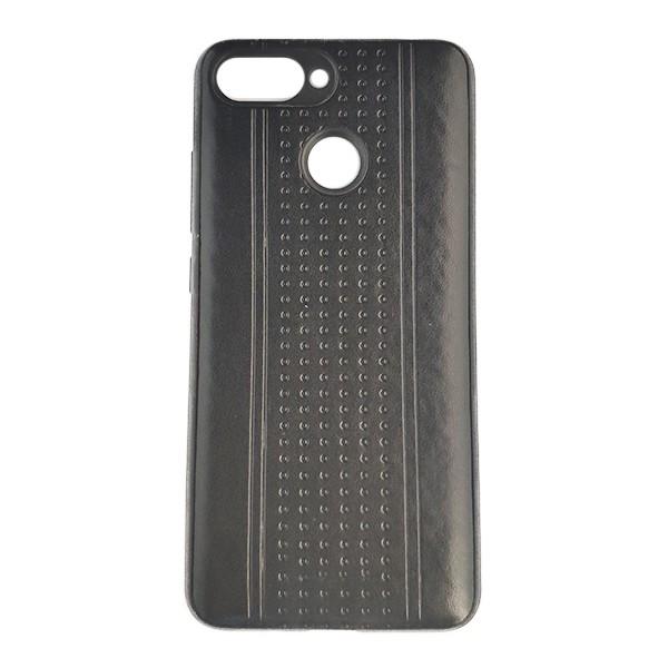 Чехол накладка Pattern Leather для Xiaomi Mi8 Lite (Black)