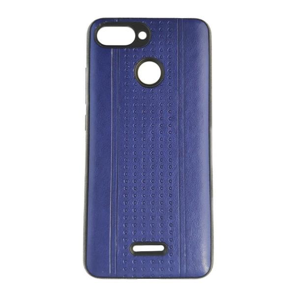 Чехол накладка Pattern Leather для Xiaomi Redmi 6 (Dark Blue)