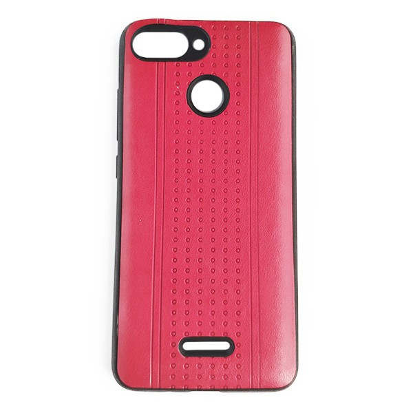 Чехол накладка Pattern Leather для Xiaomi Redmi 6 (Red) 1