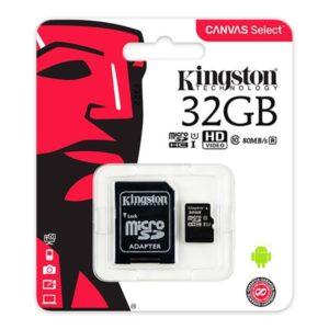 Карта памяти Kingston MicroSD 32Gb Class 10 UHS-I (100 Mb/s) с SD адаптером