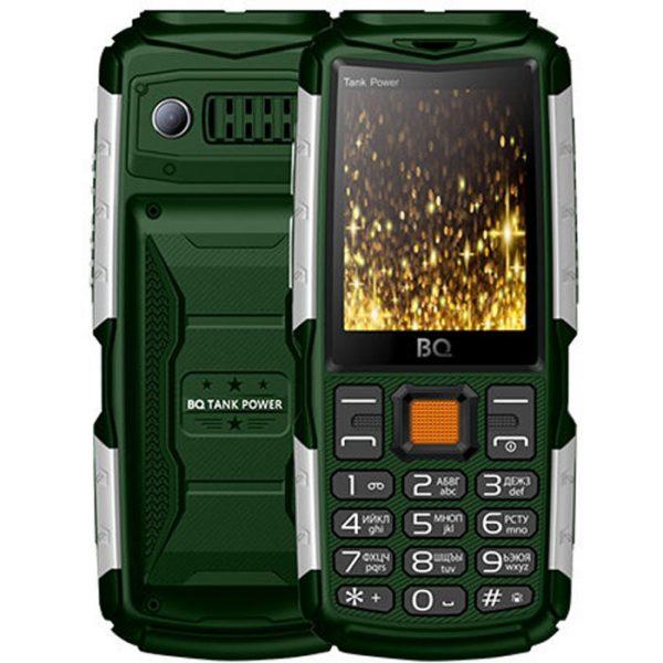 Мобильный телефон BQ BQM-2430 Tank Power (Green+Silver)