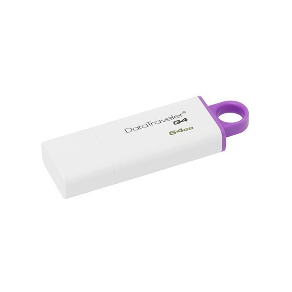 Флеш-накопитель Kingston 64GB USB 3.0 Data Traveler G4 (GTIG4) (White & Purple)