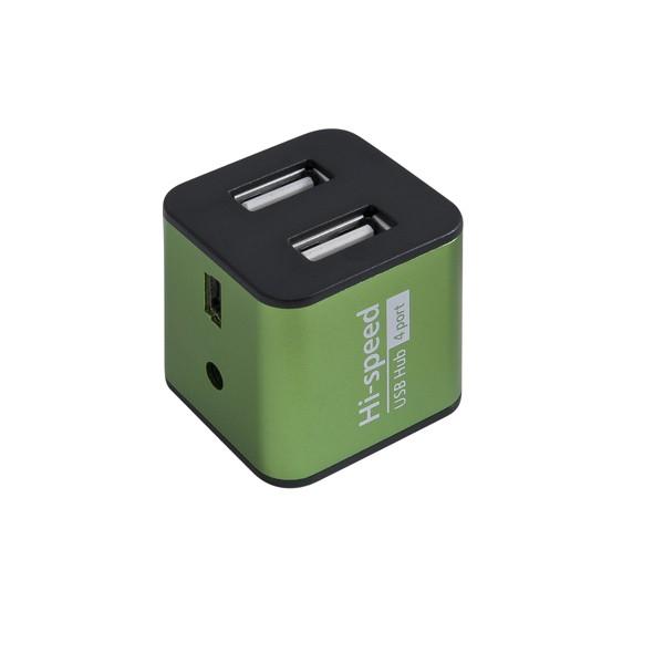 Хаб Defender Quadro Iron 4 порта, USB 2.0, металл