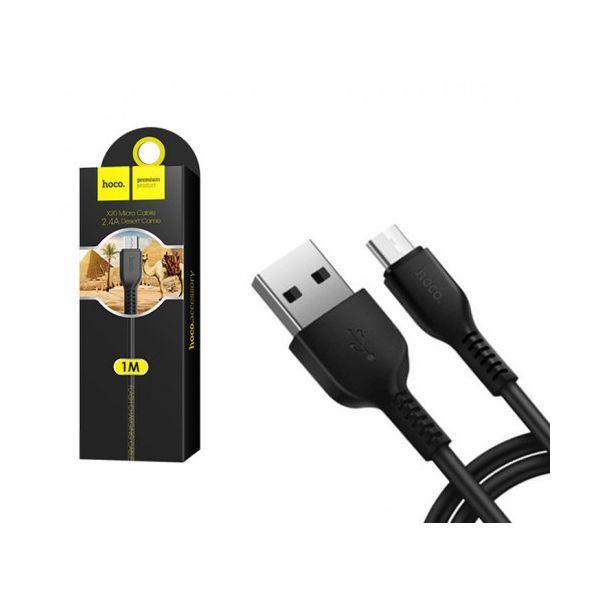 Кабель HOCO X20 Desert Camel Micro-USB (L=1M), Black