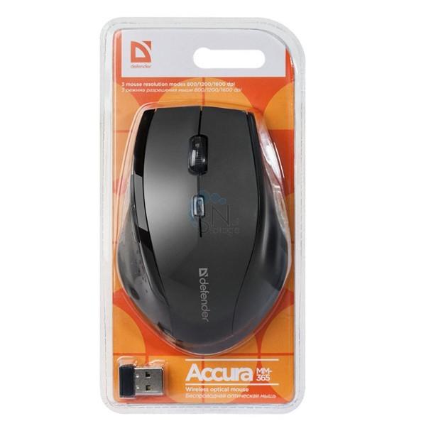 Мышь беспроводная DEFENDER Accura MM-365 (Black)