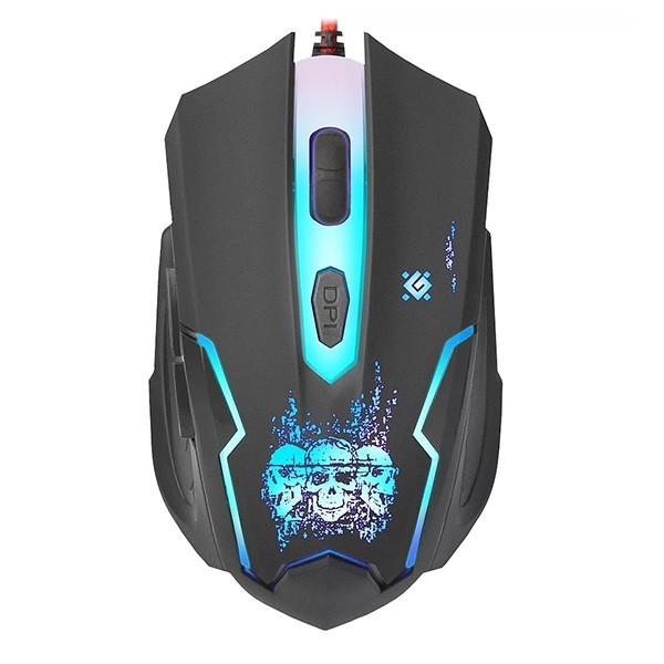 Мышь проводная DEFENDER SKULL GM-180L (black)