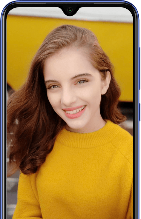 20MP selfie camera with Beautify