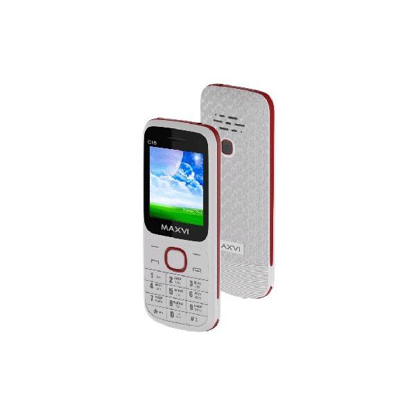 Мобильный телефон MAXVI C15 (white-red) 1