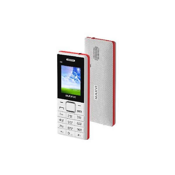 Мобильный телефон MAXVI C9 white-red 1